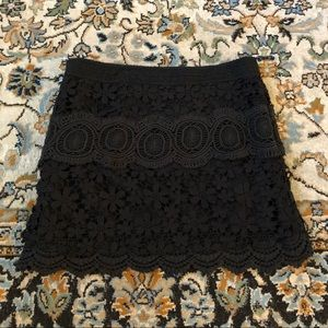 Free People floral lace skirt